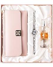 Avighna Women's Luxurious Perfume, Watch and Multicolour Clutch Combo Set