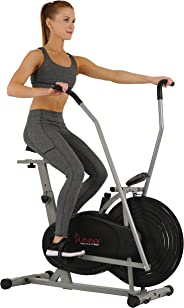 Sunny Health & Fitness Unisex Adult SF-B2618 Air Resistance Hybrid Bike - Silver, One Size