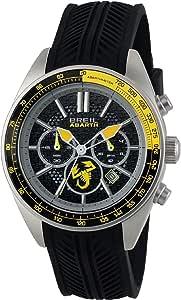 Orologio BREIL uomo ABARTH quadrante nero e cinturino in silicone nero, movimento CHRONO QUARZO