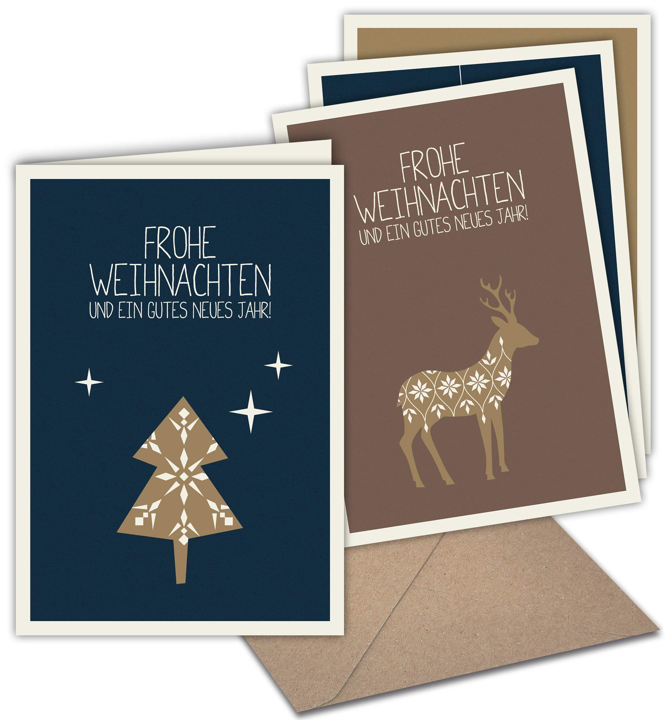 Weihnachtskarten Blanko.20 Klappkarten 20 Umschläge Weihnachtskarten Mit Prägung Skandinavische Weihnacht Grusskartenkaufen De
