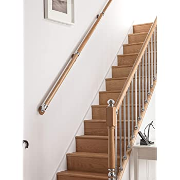 AXXYS Brushed Nickel wall mounted handrail brackets for Rails select pack size