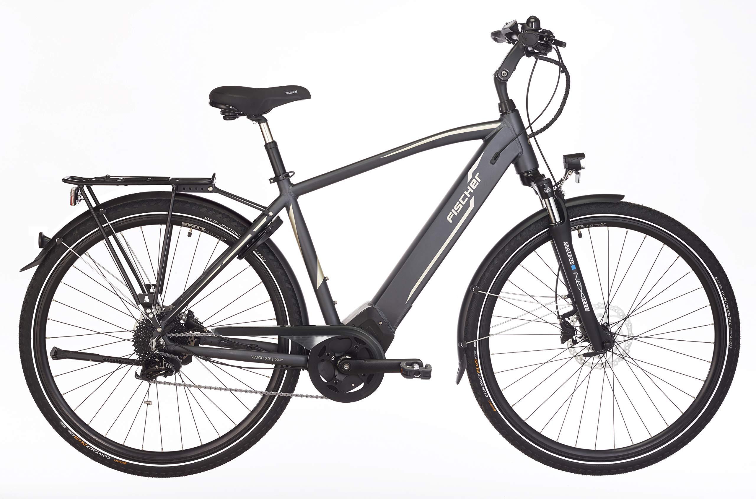 Fischer VIATOR 5.0i (2019) 28 Zoll Herren Trekking E-Bike, RH 50 cm, grau, Brose Mittelmotor