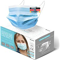 HARD 50x Kinder Medizinischer Mundschutz, Made in Germany, TYP IIR OP-Maske, CE zertifiziert EN14683 99,78% BFE 3-lagig…