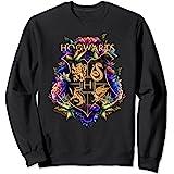 Harry Potter Hogwarts Multi-Colored Floral Crest Sweatshirt