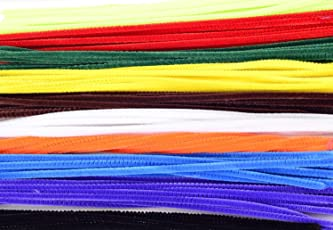 "Ziggle25 Pcs Multicolored 12"" Normal Stem Craft Pipe Cleaners"