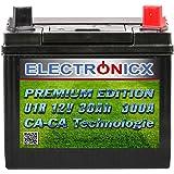 Electronicx U1R 30Ah 300A Green Power accu gazontractor zitgrasmaaier tuingereedschap motorfiets startaccu 12V