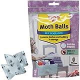 Zero In ZER436 Moth Balls – Pack of 10 (Kills Moths, Larvae and Eggs, Odour-Free), White, 2x14.5x19.5 cm