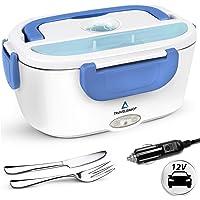 TRAVELISIMO Lunch Box Gamelle Chauffante Électrique pour Voiture 12V, Chauffe en Quelques Minutes, Acier Inoxydable 1.5L…