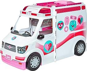 Mattel Barbie - 2-in-1 Krankenwagen Spielset, mit Licht und Geräuschen