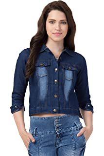 FurryFlair Full Sleeve Solid Women\'s Denim Jacket