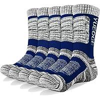 YUEDGE 3/5 paia di calzini sportivi da uomo Calze da equipaggio con cuscino performance, completo per attività…