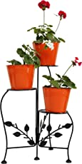 Green Gardenia Iron Planter With Stand