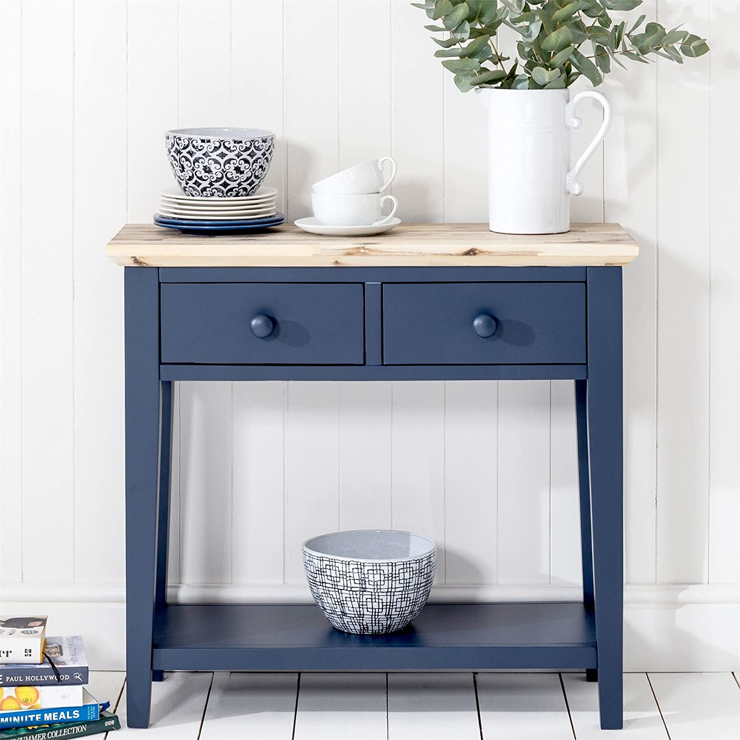 Florence Console Table with 2 drawers Sturdy hall table in