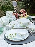 LaOpala Vivid Green Opalware Dinner Set (Set of 35 pcs)