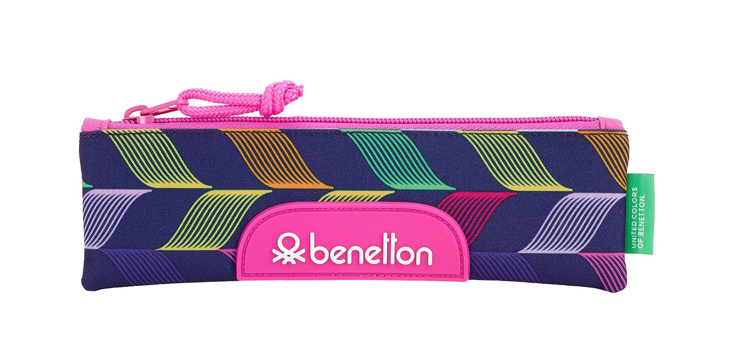 Benetton «Ondas» Oficial Estuche Escolar 200x60mm