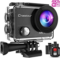 Crosstour Caméra Sport 4K Ultra HD Wi-FI 16MP avec Télécommande Appareil Photo Caméscope Étanche 30M 170 °Grand-Angle...