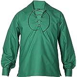 All Kilts Sports Men's Scottish Jacobite Ghillie Kilt Shirt - 8 Colors in Stock