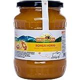 Ruwe honing uit ImkerPur, ongefilterd, niet geëxtraheerd of verhit, bevat bloemenstuifmeel, bijenwas, propolis, bijenbrood en