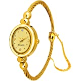 WHITE BIRD Analog Gold Dial Women's Watch (IGP6WB06)