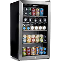 Subcold Super85 LED - Under-Counter Fridge   85L Beer, Wine & Drinks Fridge   LED Light + Lock and Key   Low Energy A+ (Stainless Steel, 85L)