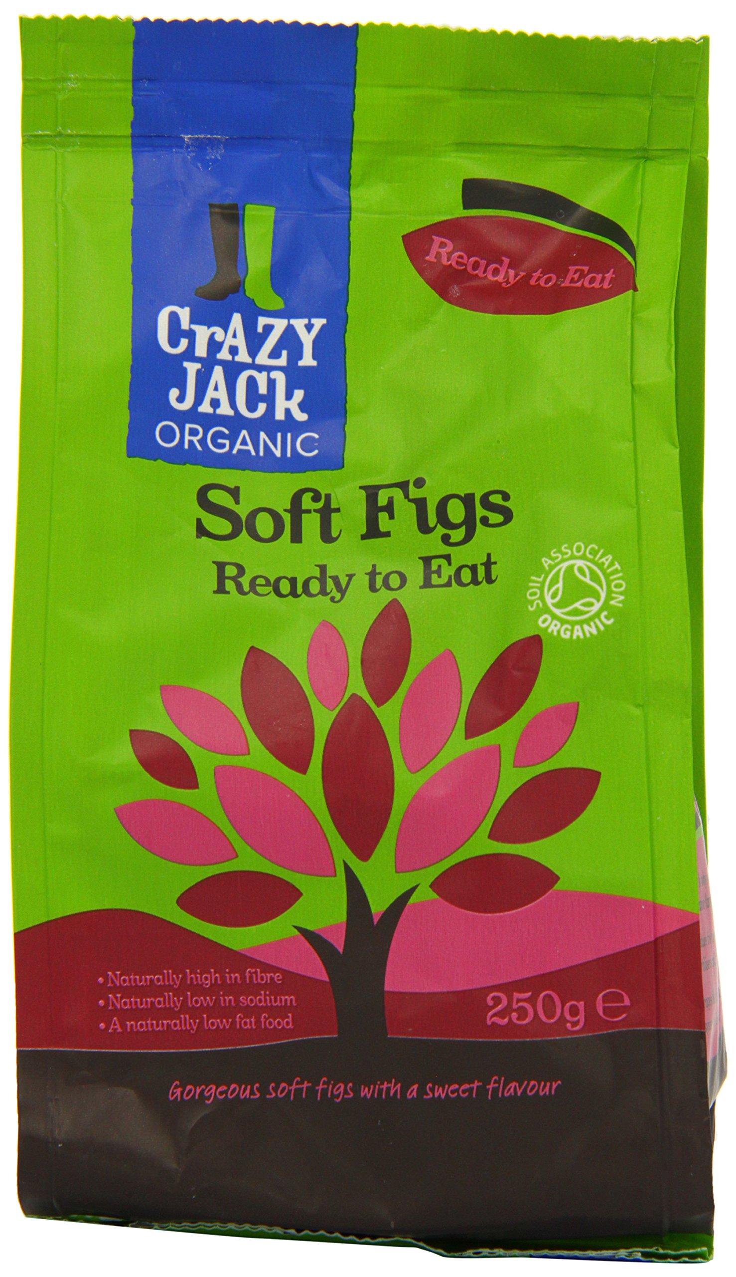 Crazy Jacks Organic Figs 250 g (Pack of 3)