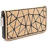 Tikea Geldbörse von Kork - Geometrische Clutch Wallet Umweltfreundlich Handytasche Portable Handtasche für Damen