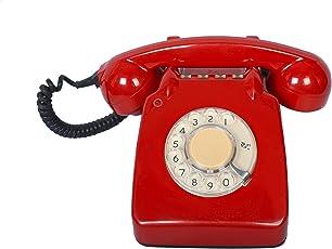 Interio Crafts Bakelite Vintage Landline Telephone with Tring Tring Bell Sound (Red)