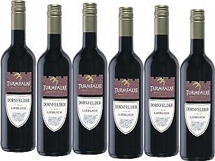 Turmfalke Dornfelder QbA Qualitätswein lieblich Rotwein (6 x 0.75 l)