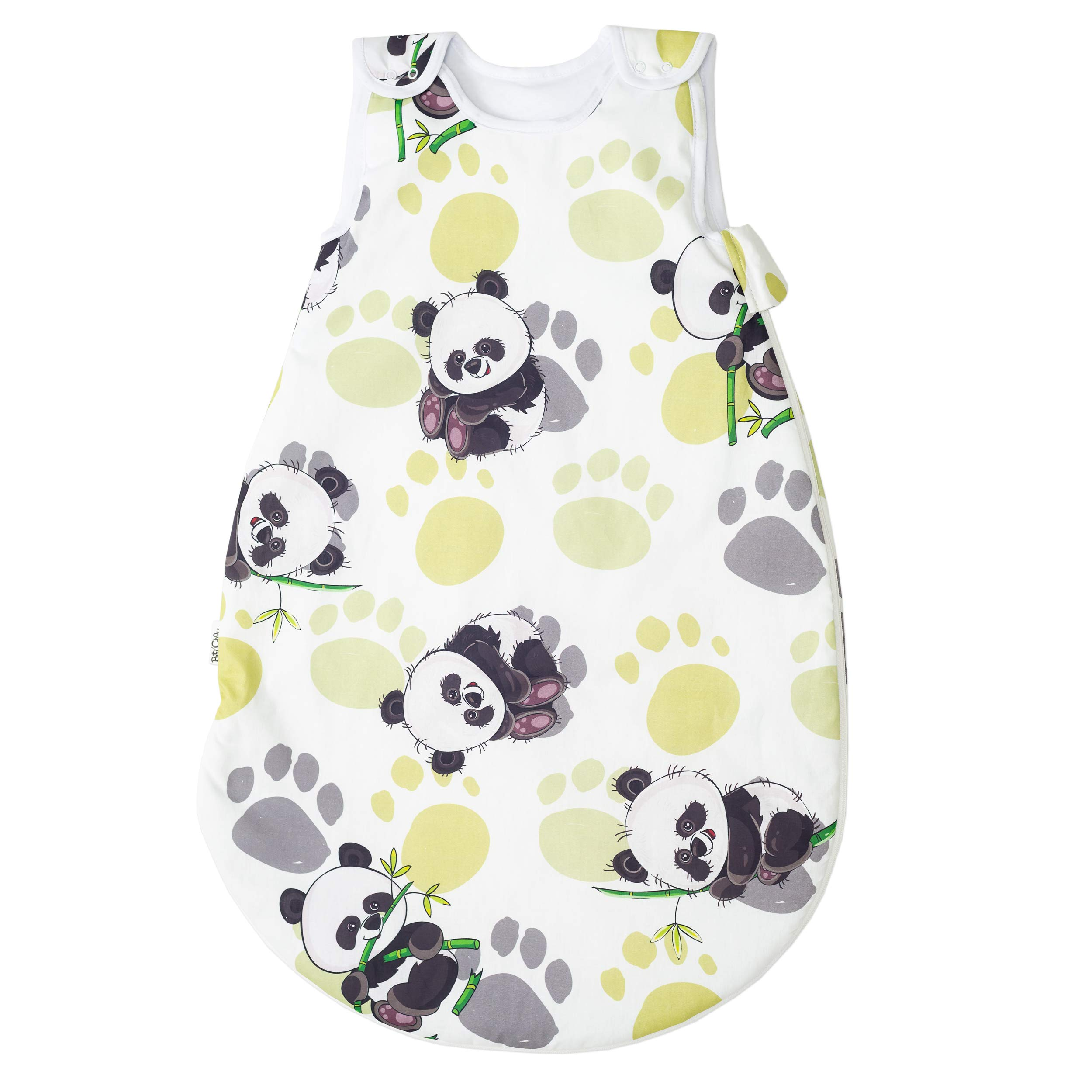 Bambú panda Pati'Chou 100% Algodón Sacos de dormir para bebés 0-6 meses (68 cm, 0.5 tog) – verano