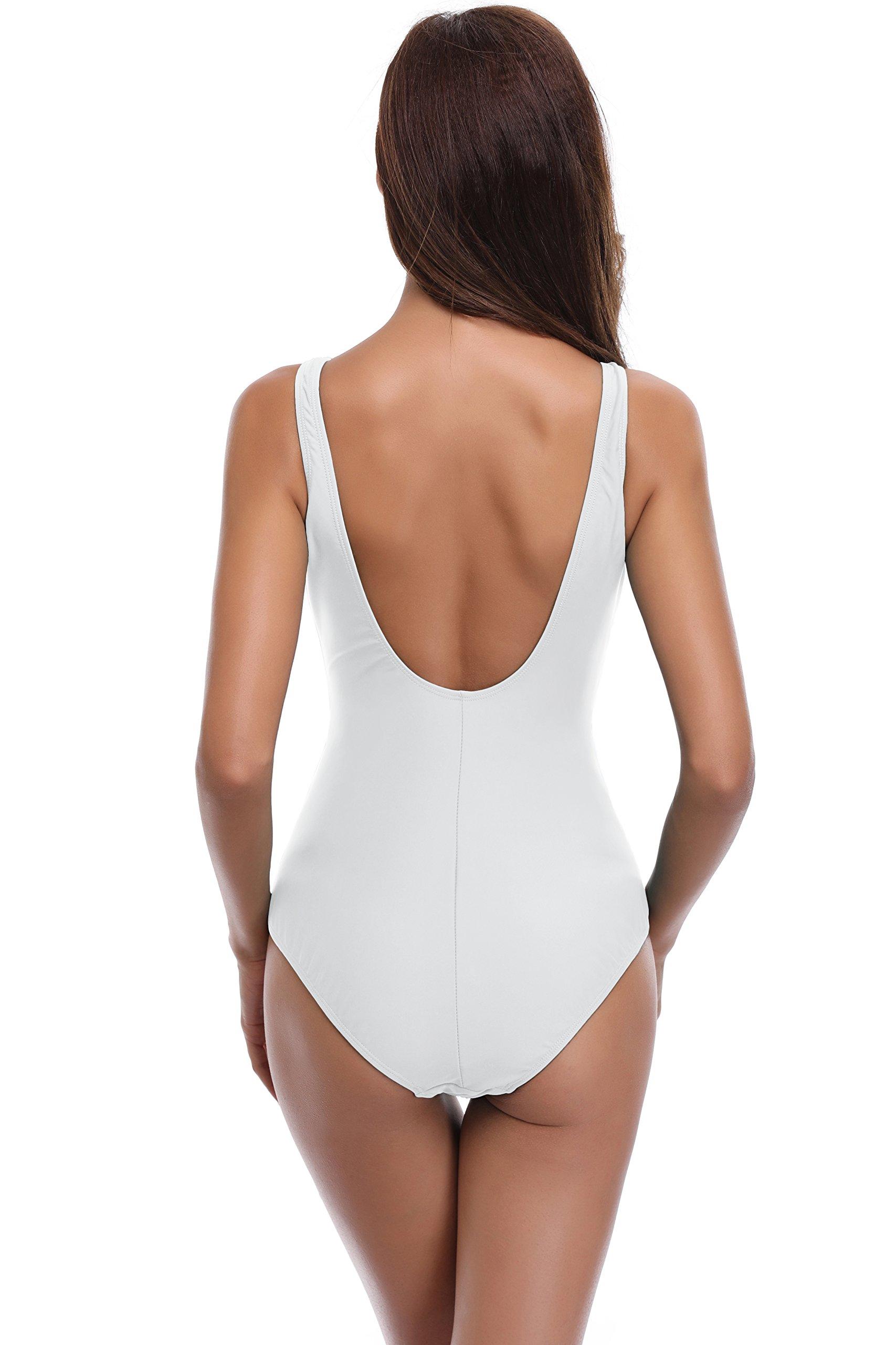 SHEKINI Costume da Bagno Intero Mare da Donna Push up Vintage Halter Bikini con morbide Coppe Moda Un Pezzo Sexy… 2 spesavip