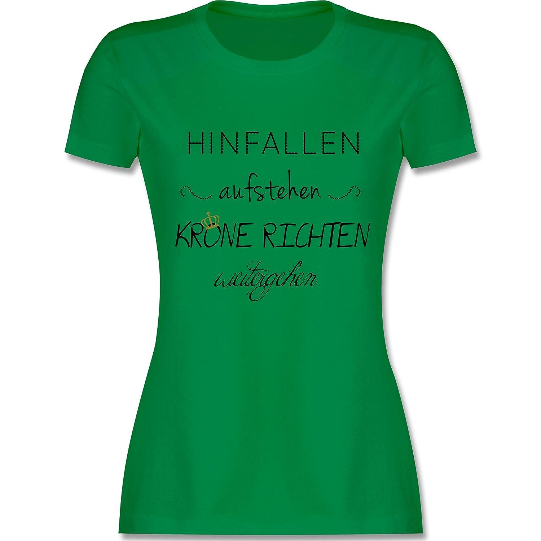 Shirtracer Statement Shirts - Krone Richten und Weiter Gehen - Damen T-Shirt  Rundhals: Shirtracer: Amazon.de: Bekleidung