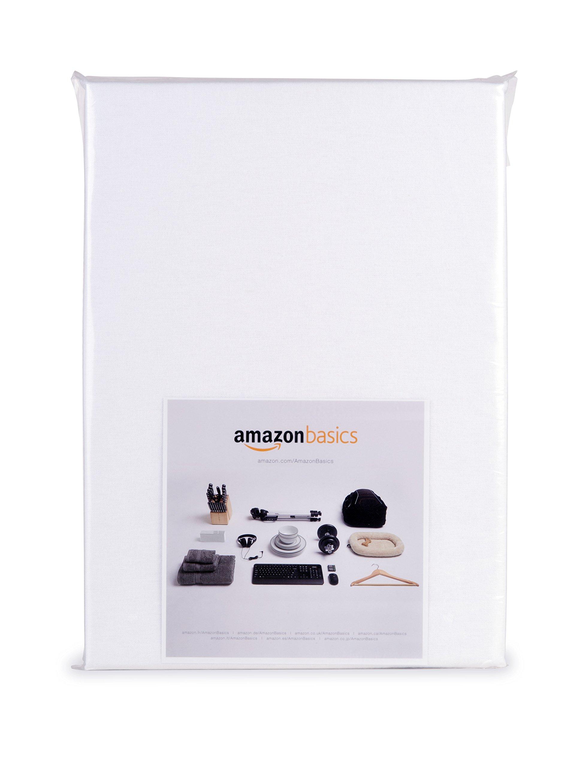 Coprimaterasso Impermeabile Letto Singolo.Amazonbasics Coprimaterasso Impermeabile In Molton Per Letto Singolo 90 X 200 Cm Bianco