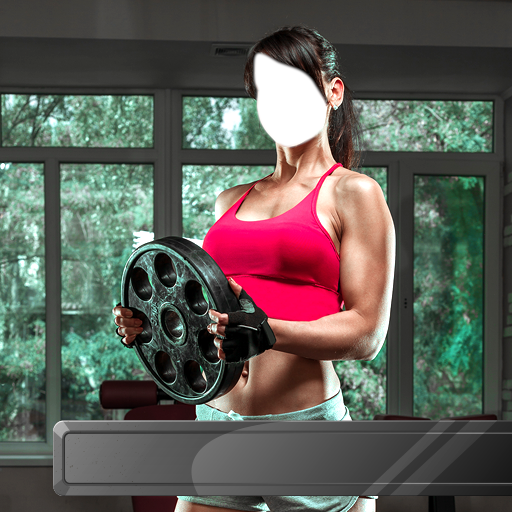 Fitness Körper Fotomontage