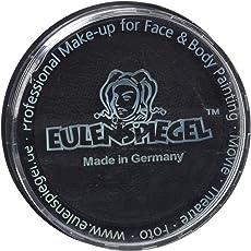 Eulenspiegel 181119 - Profi-Aqua Make-up Schminke - Schwarz - 30g
