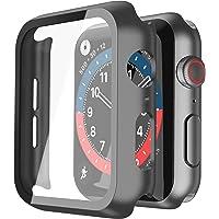 Misxi Schwarz Hard Hülle Mit Glas Displayschutz Kompatibel mit Apple Watch Series 6 / SE/Serie 5 / Series 4 40mm, 2…
