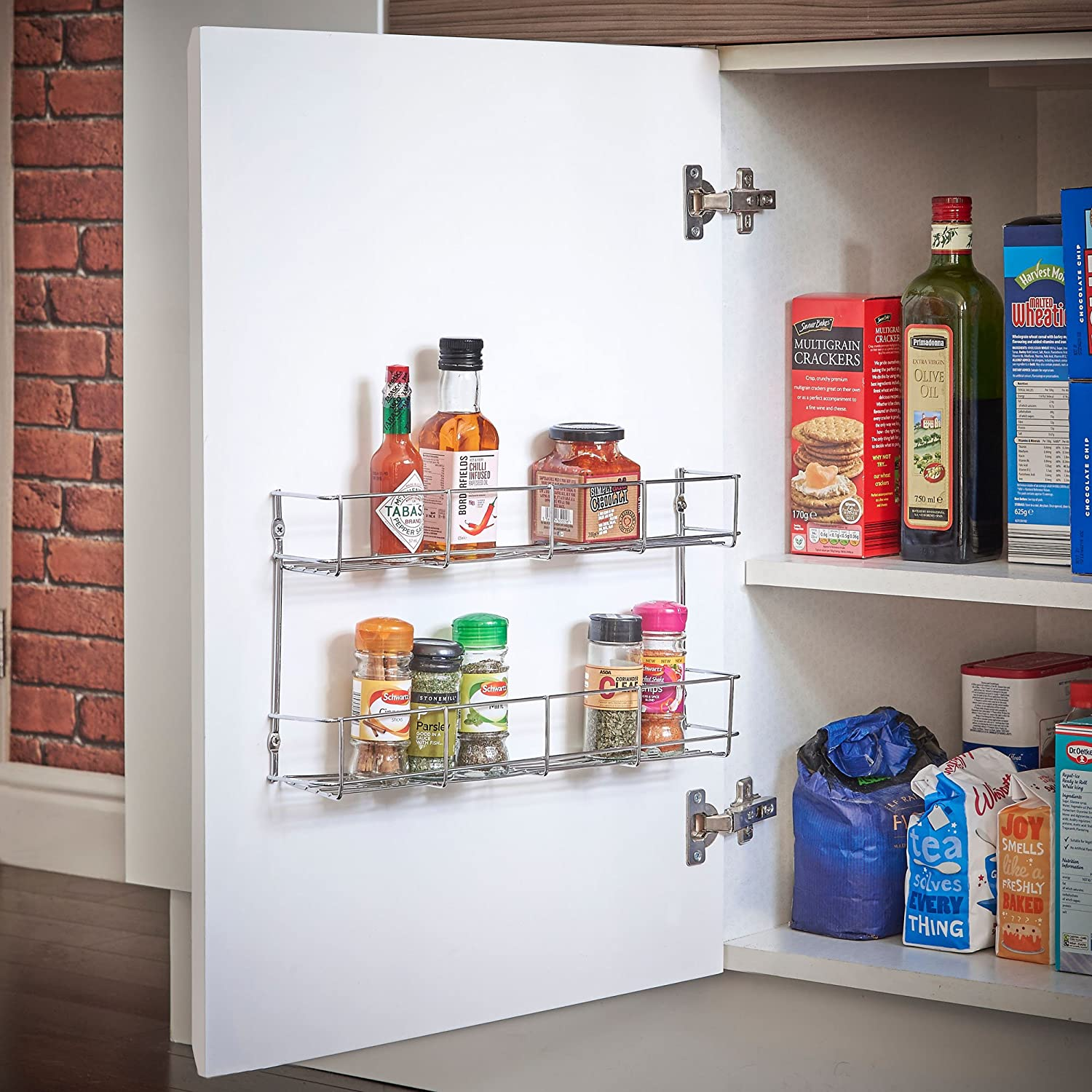 Tier Spice Rack Vonshef 3 Tier Spice Herbs Rack Suitable For Wall Mount Or