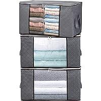 H.C Housecraft 3 pièces Sacs de Rangement pour couvertures de Couette de vêtements, organisateurs de Grande capacité…