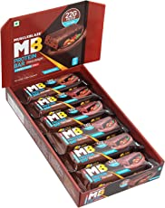 MuscleBlaze Protein Bar, Chocolate Delight, 22g Protein (Pack of 12)
