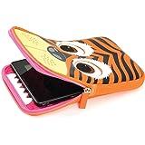 Tab Zoo Universal Pouch Case Schutzhülle mit integriertem Stand für 8 Zoll (20,3 cm) Tablets im niedlichen Design - Tiger
