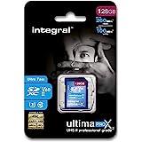 Integral Memory Tarjeta SD UHS-II de 128GB V60 hasta 260 MB de Velocidad de Lectura y 100 MB de Velocidad de Escritura SDXC P
