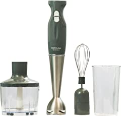 Kutchina Bliss DLX 400 Watt Stainless Steel Hand Blender, Grey
