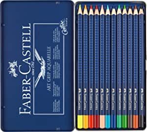 Faber-Castell Art Grip Aquarelle Tin 12 Pencils Asstd