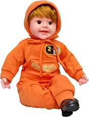 Toyshine 11 inches Baby Musical and Singing Boy Doll, with Touch Sensors, Assorted Color