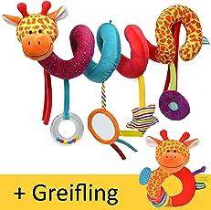 Fiesta Baby Spirale & Greifling   Pädagogisches Spielzeug für Babys ab 0 Monate