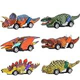 SAITCPRY 6PCS Coches de Juguetes Dinosaurios - Halloween Navidad Regalos & Juguetes para Niños