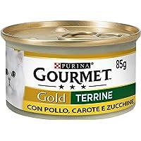 Purina Gourmet Gold Umido Gatto Patè con Verdure, con Pollo, Carote e Zucchine, 24 Lattine da 85 g Ciascuna, Confezione…