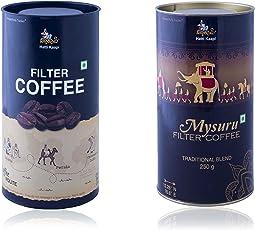 Hatti Kaapi Chicory Blended Coffee Powder and Mysuru Filter Coffee 500 Grams (Combo of 2)