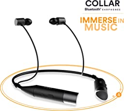 Mivi Collar Wireless Neck Band Bluetooth Earphone With Magnetic Earbuds ,In Built Mic, Stereo Sound, Thumping Bass