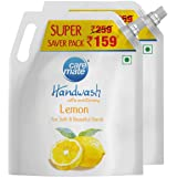 Caremate Handwash - Lemon, 1.5 Litre, Pack of 2