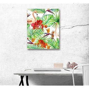 LB Tropische Pflanze Blatt Flamingo Grün Bild Druck Auf Leinwand Leinwand  Wand Kunst Dekoration 1 Panel Wand Dekor 40 X 50 Cm Fertig Zum Aufhängen